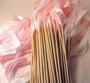 Satin Ribbon Wands