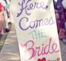 Flower girl inspiration | DIY wedding sign