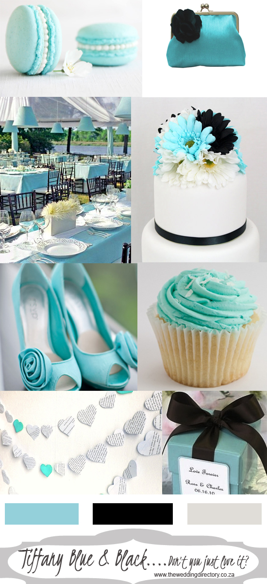 Tiffany blue and black colour scheme