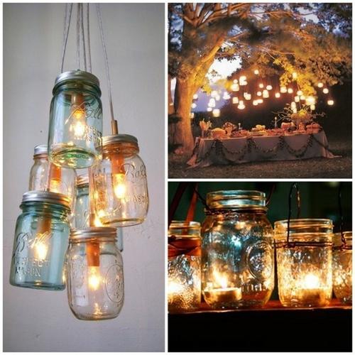 Wedding lighting mason jar lighting