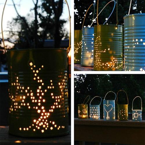 Wedding lighting can lanterns