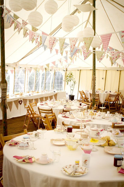 reception decor bunting