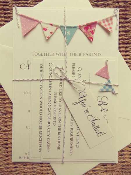 wedding stationery bunting