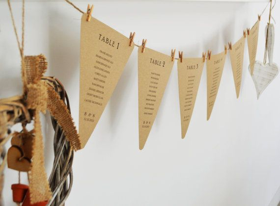 seating plan bunting