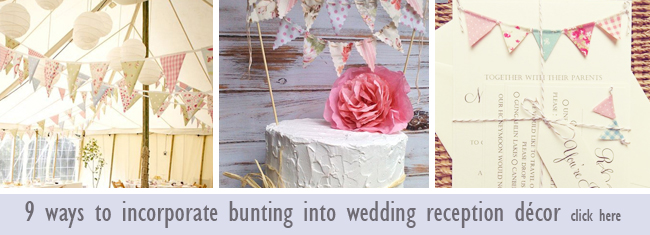 Wedding bunting ideas