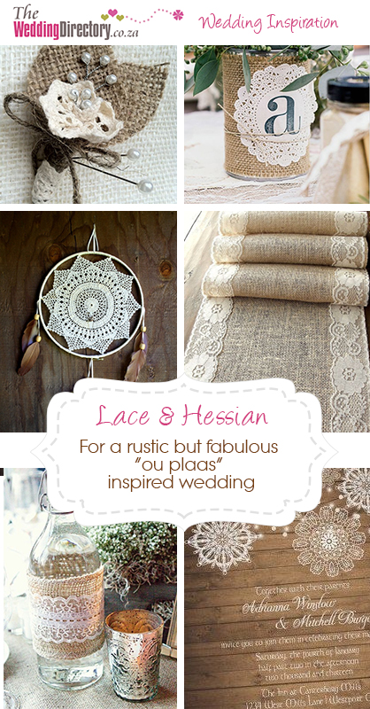Lace and Hessian theme