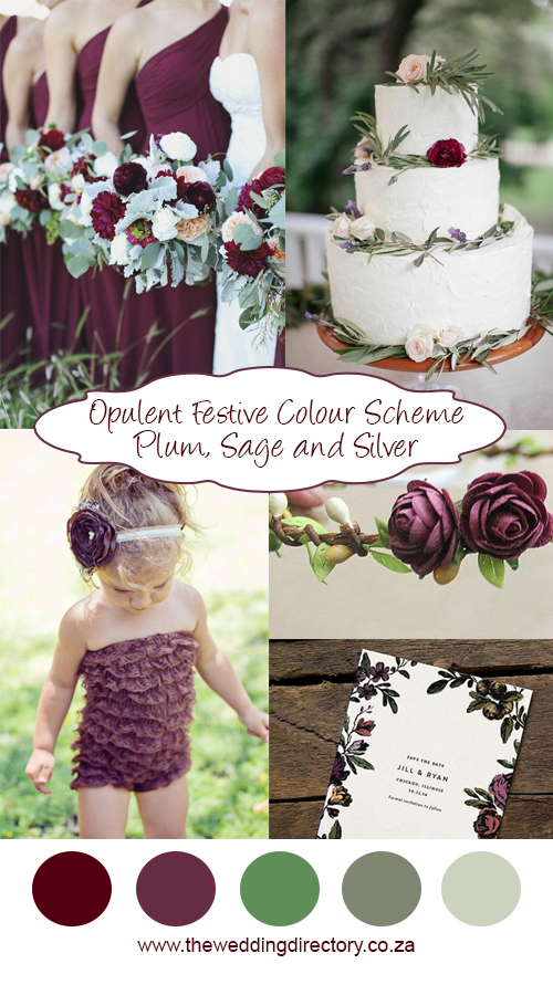 festive wedding colour scheme