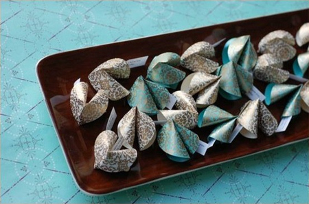 DIY Wedding fortune Cookies