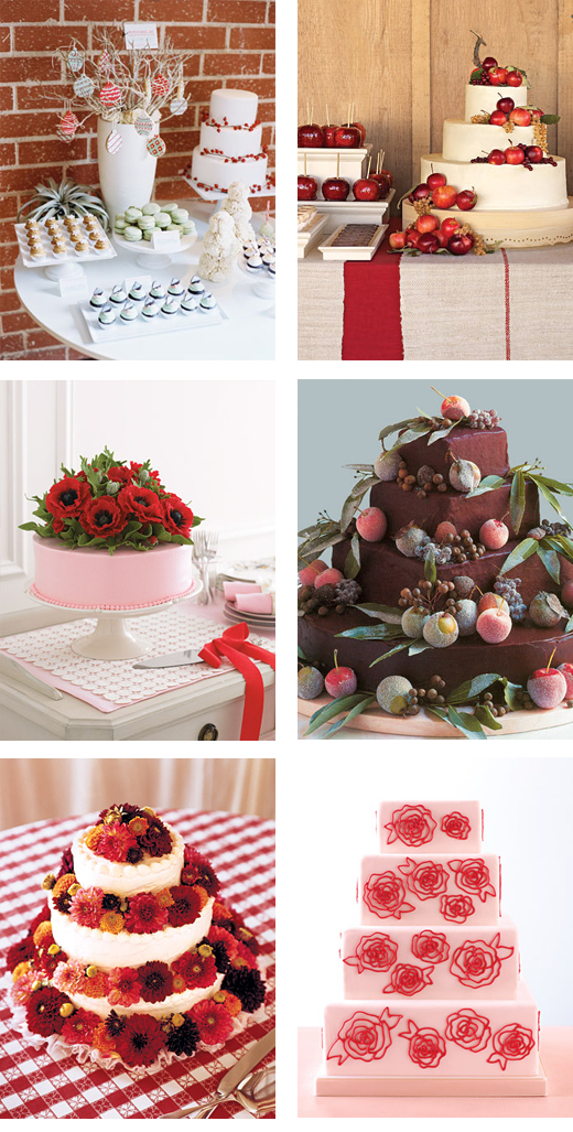 We have put together some red themed wedding cake ideas that will help you