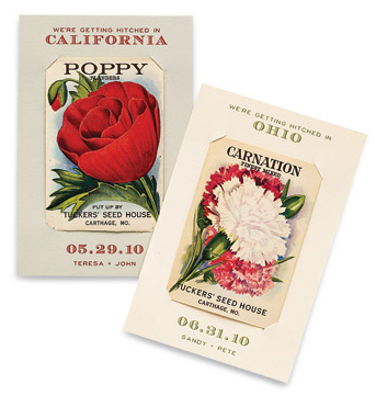 Save-the-Date idea Vintage seed packets